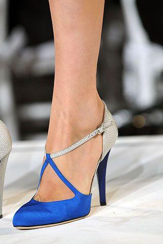 pantofi mireasa argintii cu albastru