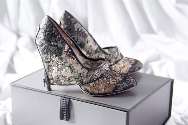 pantofi mireasa cu dantela