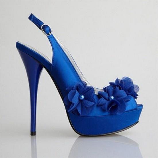 pantofi mireasa cu toc inalt albastri
