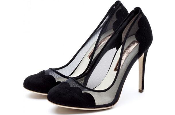 pantofi negri pentru mirese