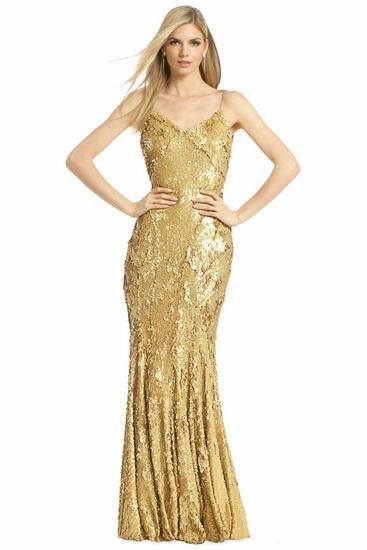 rochie aurie pentru domnisoare de onoare