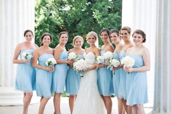 rochii albastru deschis domnisoare onoare