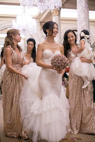 rochii aurii cu sclipici domnisoare de onoare