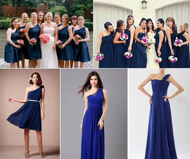 rochii bleumarin pentru domnisoare de onoare