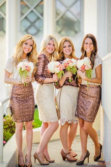 rochii cu paiete pentru domnisoare de onoare