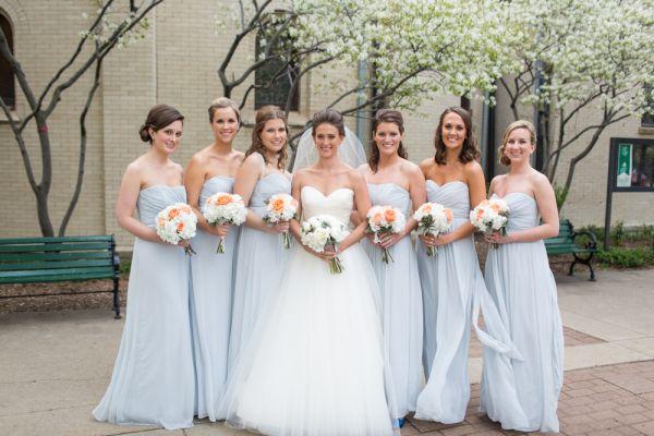 rochii de nunta albastre