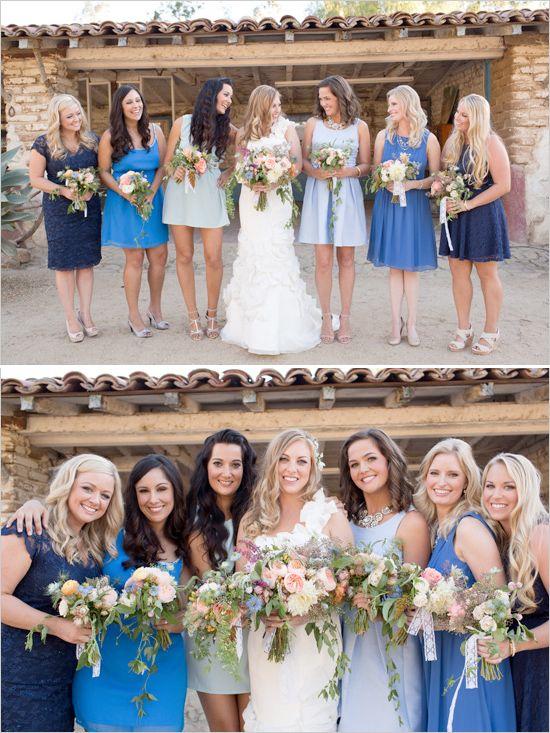rochii domnisoare de onoare albastre