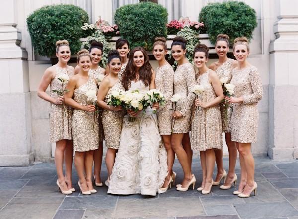rochii nunta cu auriu