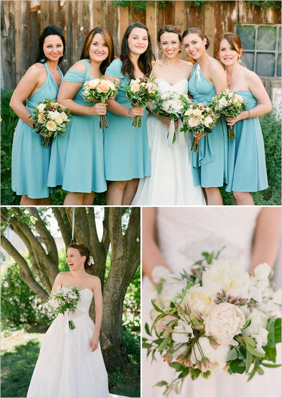 rochii scurte albastre nunta