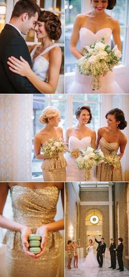 rochii scurte aurii cu sclipi domnisoare onoare