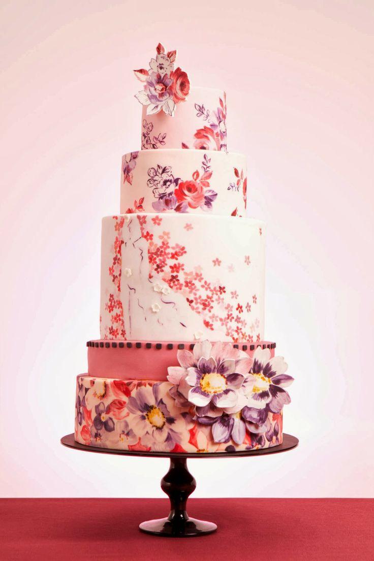 tort nunta cu flori
