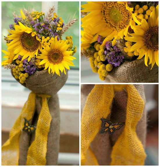 Lumanari De Nunta Cu Floarea Soarelui Mireasa Perfectaro