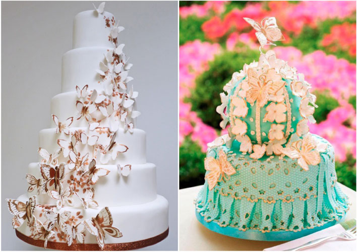 Modele de tort de mireasa cu fluturi mireasa - Hochzeitstorte dekorieren ...