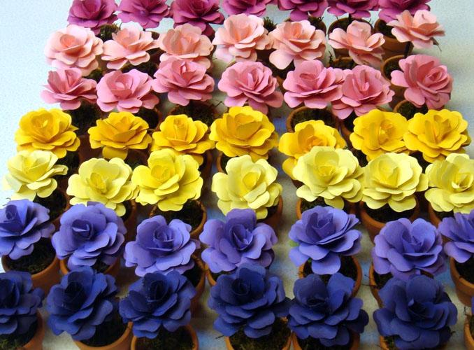 flori din hartie pentru marturii