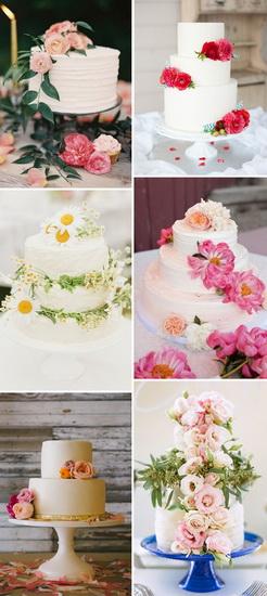 modele de torturi de nunta ornate cu flori