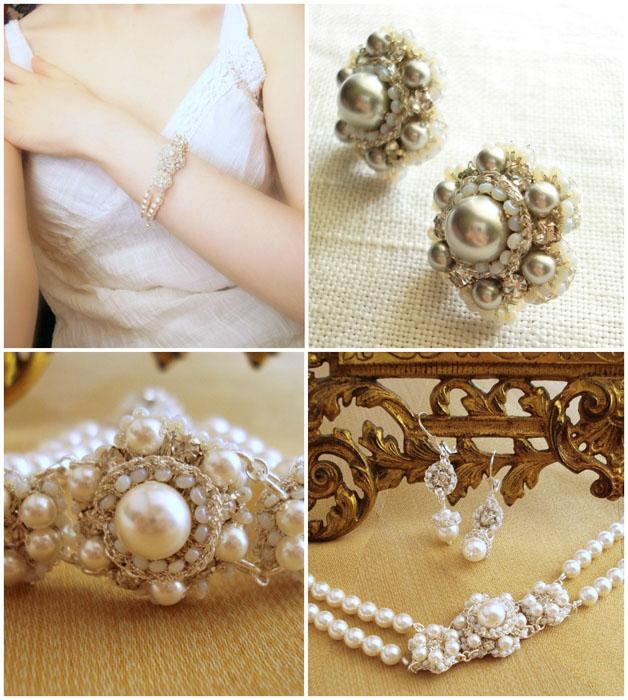 Bijuterii mirese cu perle