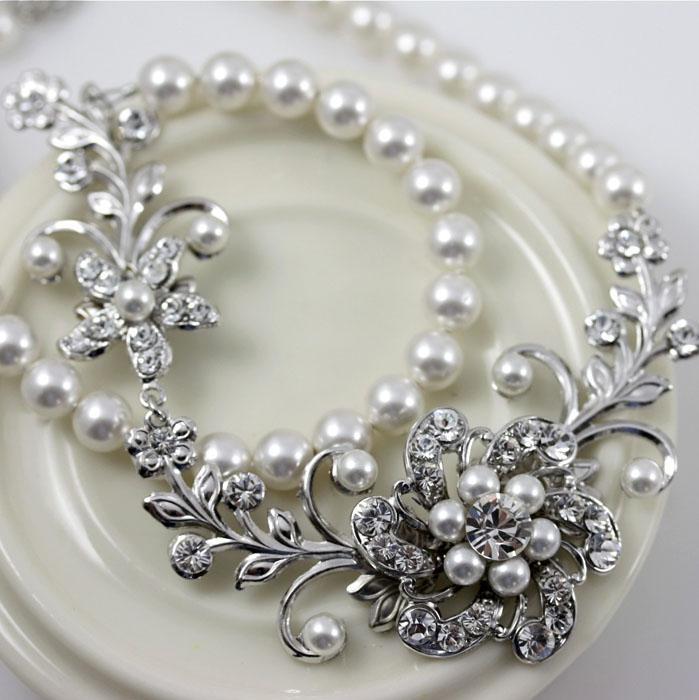 bijuterie mireasa cu perle