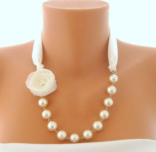 colier cu perle handmade