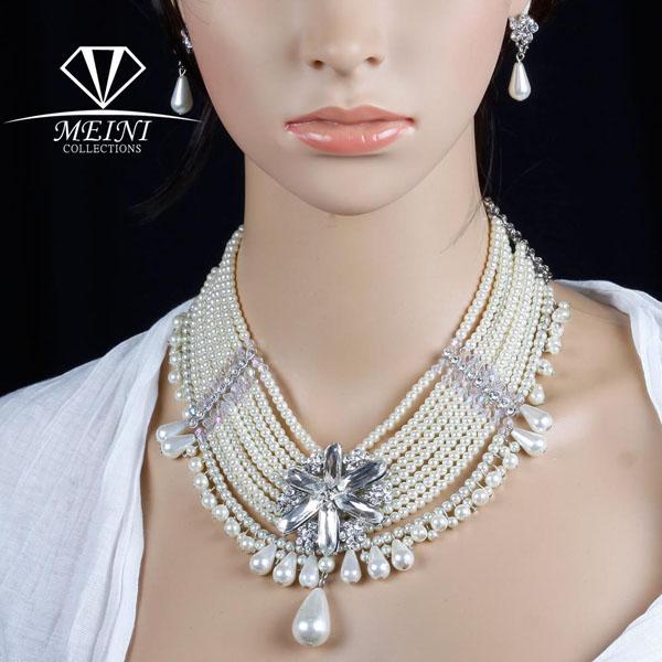 colier mireasa cu perle