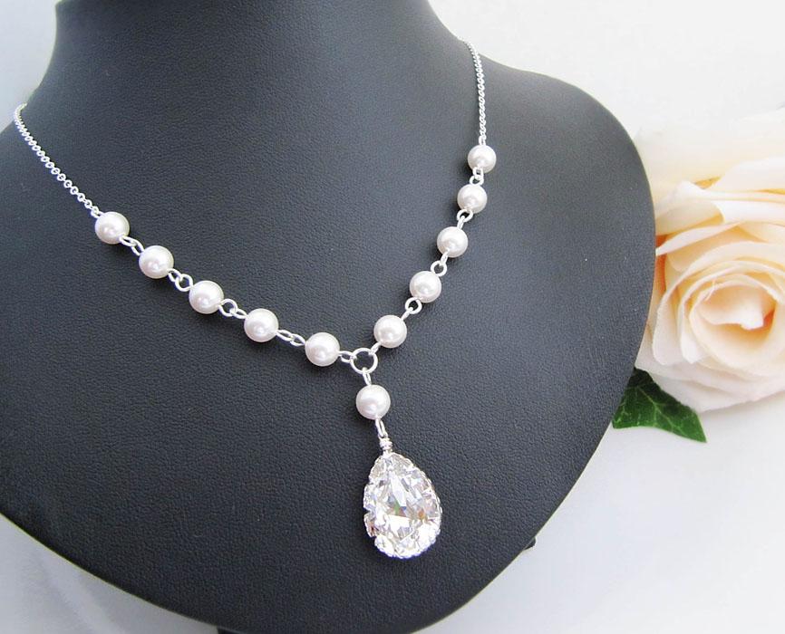 lantisor cu Cristale Swarovski si perle