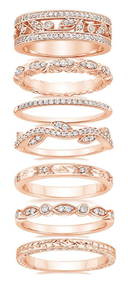 modele de verighete din aur roz