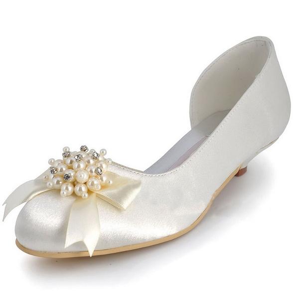 pantofi albi cu toc mic mireasa