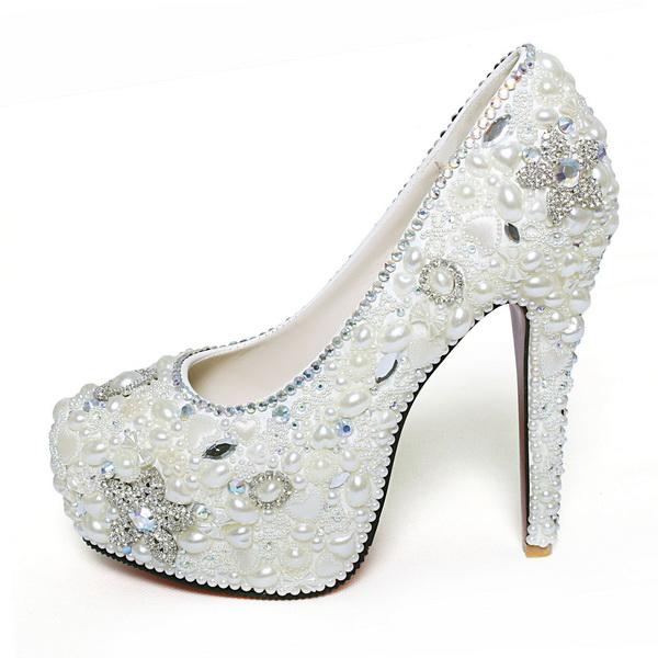 pantofi cu perle de nunta