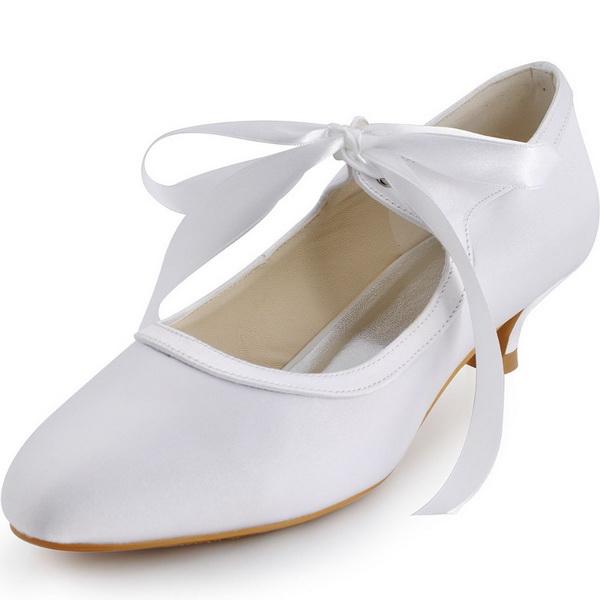pantofi pentru nunta albi cu toc mic