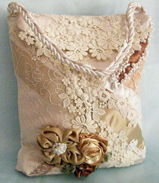 poseta handmade din dantela