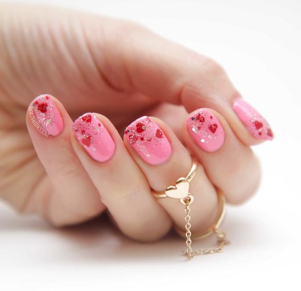 model de unghii roz mireasa 2015