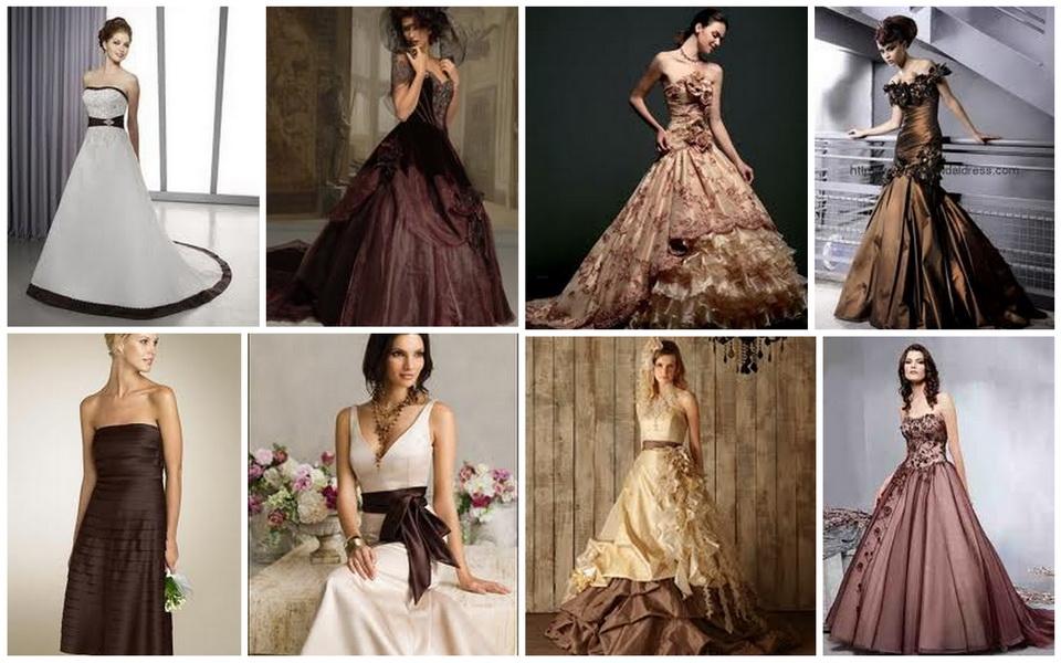 modele Rochii mireasa colorate 2015