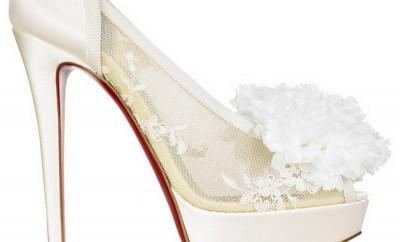pantofi albi cu toc inalt