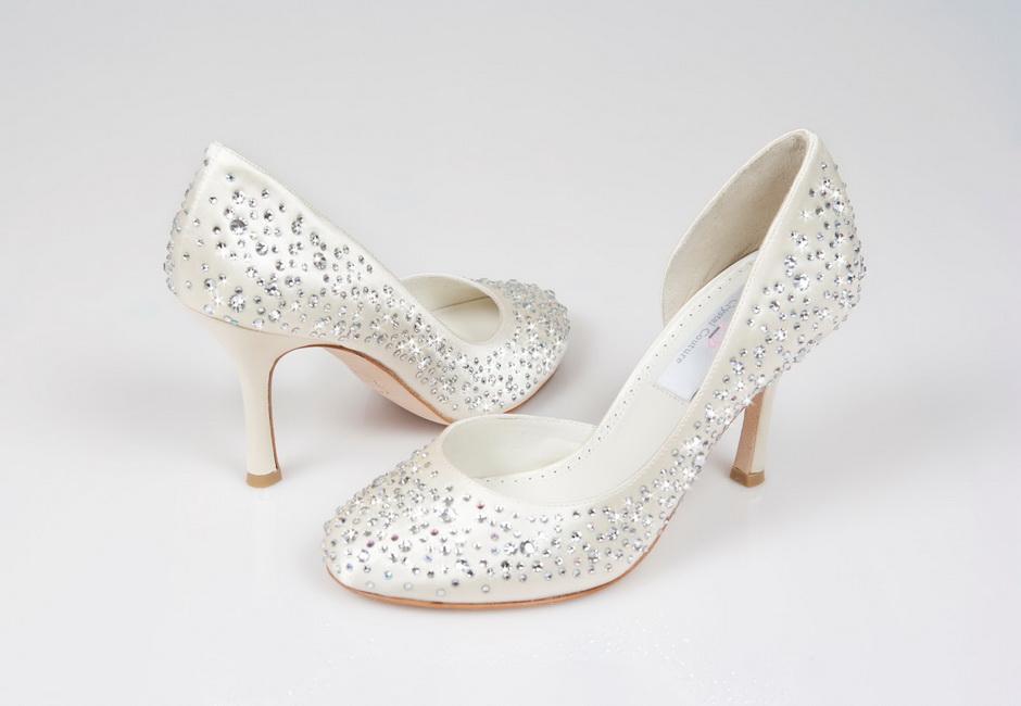 pantofi cu cristale swarovski
