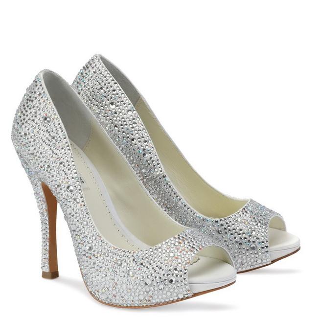 pantofi cu platforma pentru mirese