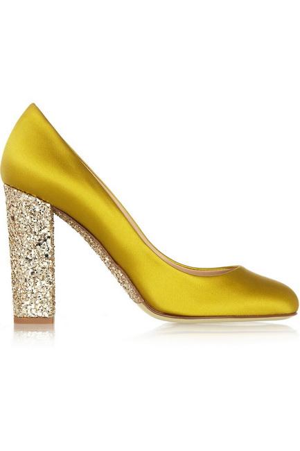 pantofi de nunta galbeni