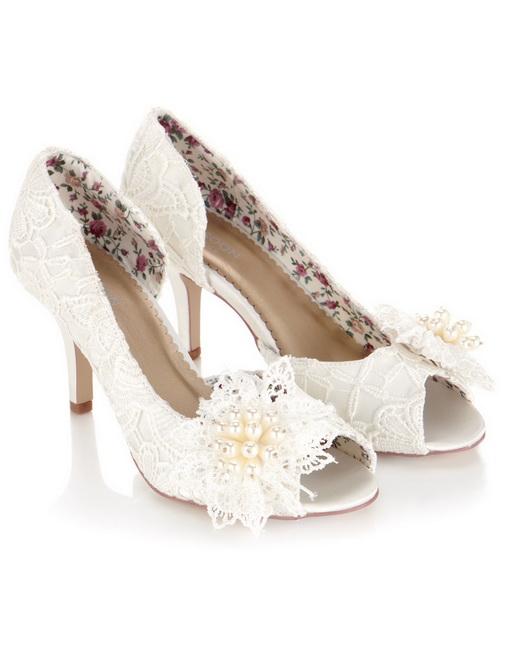 pantofi din dantela pentru nunta