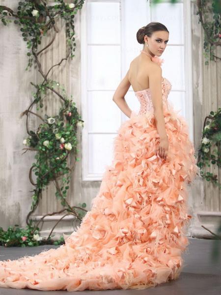 rochie de mireasa roz 2015