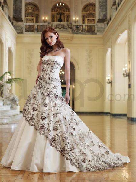 rochii mireasa alb cu negru