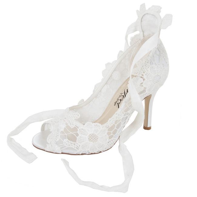 sandale de nunta din dantela