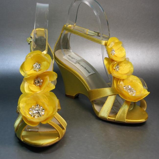 sandale mireasa galbene