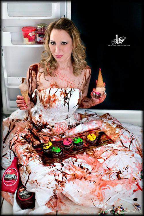 trash the dress cu ciocolata