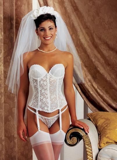 bustiera nunta alba