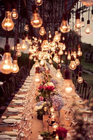 aranajamente de nunta cu lumini