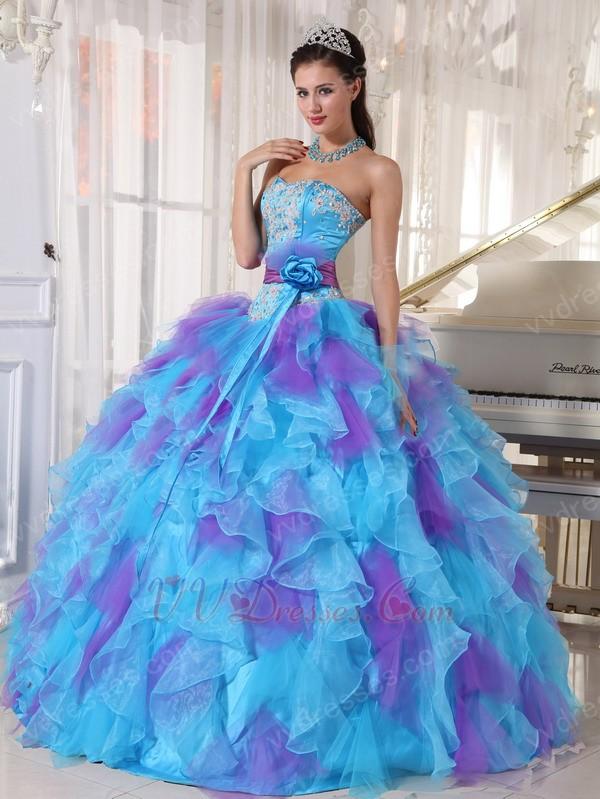 rochie-mireasa-albastra