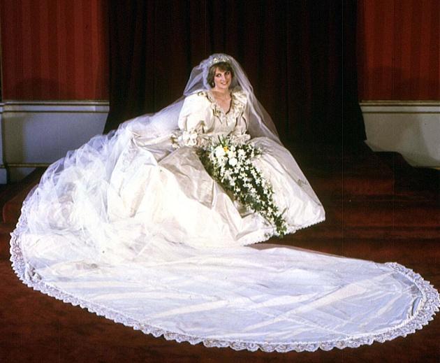 Rochia de mireasă a prințesei Diana