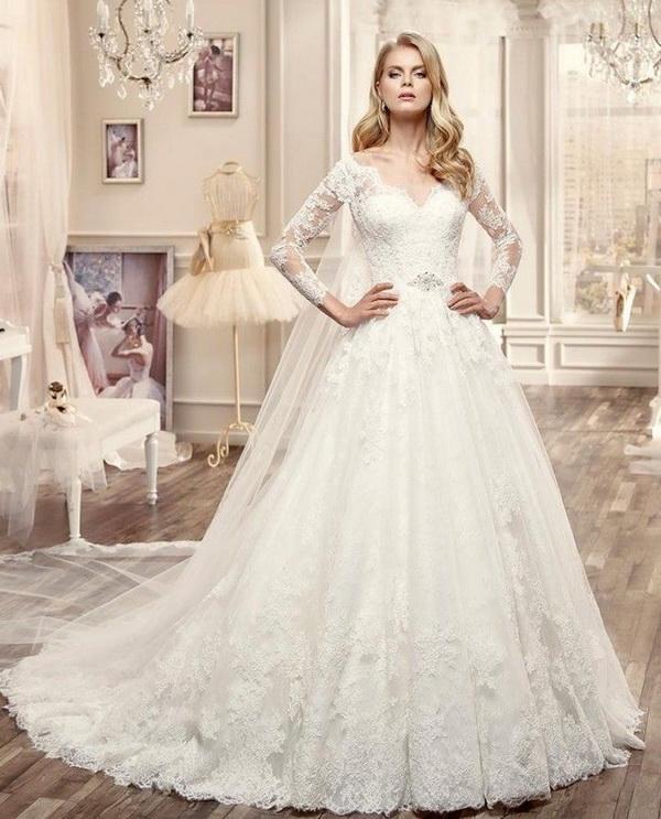 rochie de mireasa tip printesa pentru 2017