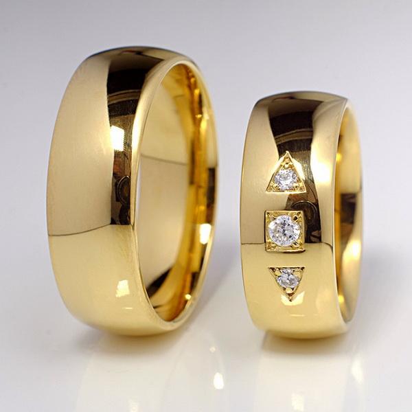 verighete clasice cu diamante