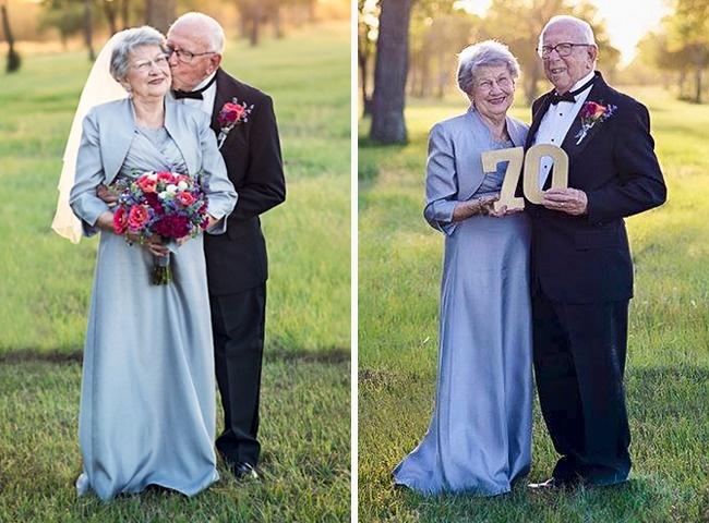 Acest cuplu a așteptat 70 de ani pentru a face pozele de nuntă 5