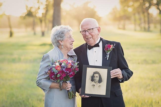 Acest cuplu a așteptat 70 de ani pentru a face pozele de nuntă 6