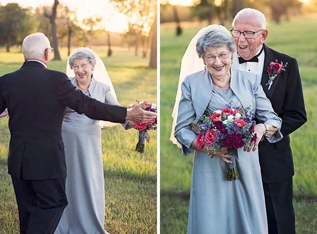 Acest cuplu a așteptat 70 de ani pentru a face pozele de nuntă 8